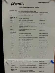 press conference sched